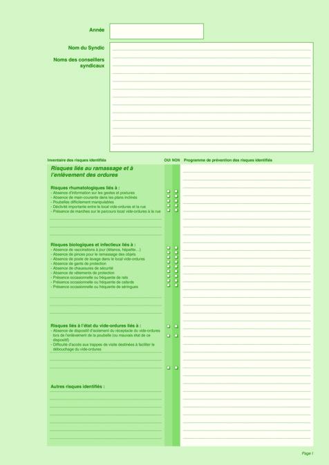 Registres et documents avec document unique evaluation des - Formation de concierge d immeuble ...